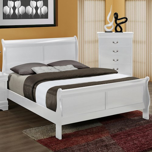 Crown Mark Louis Phillipe California King Sleigh Bed