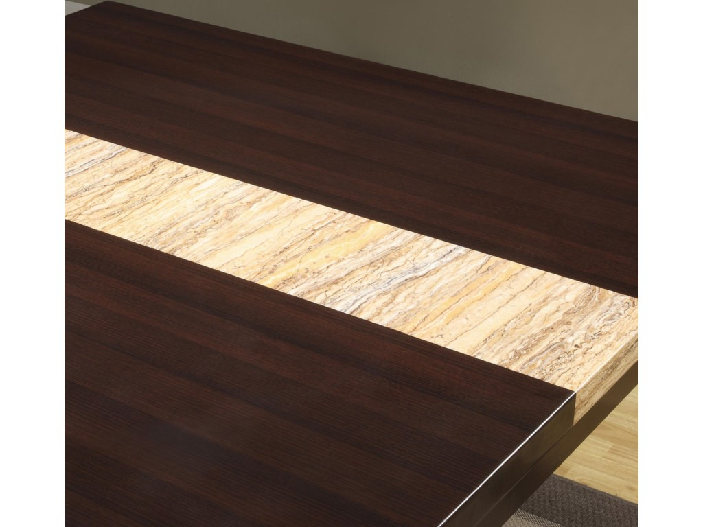 Contrasting Table Top Stripe Detail View