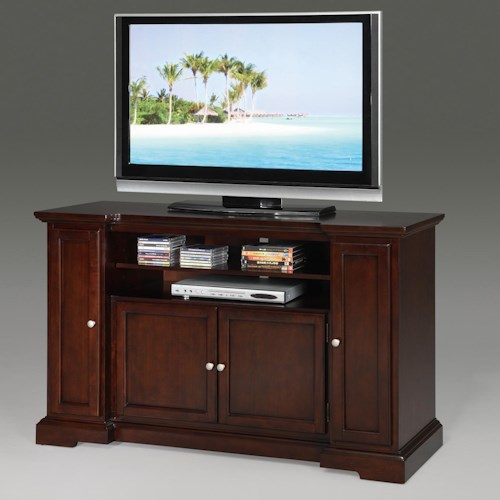 Crown Mark Matt 2 Door Entertainment Console with Media Drawers & Shelving