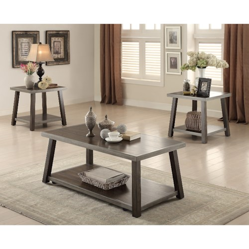 Crown Mark Miles Occasional Occasional Table Group with Casters