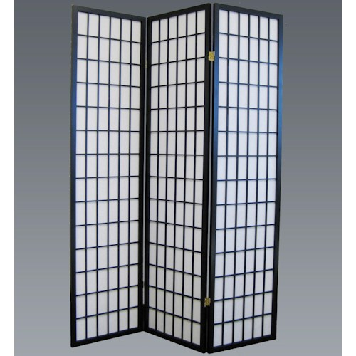 Crown Mark Miscellaneous 3 Panel Wood Screen