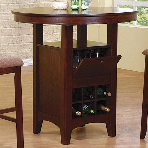 Crown Mark Miyagi Bar Table with Storage