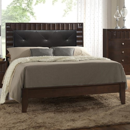 Crown Mark Nadine Upholstered Twin Bed