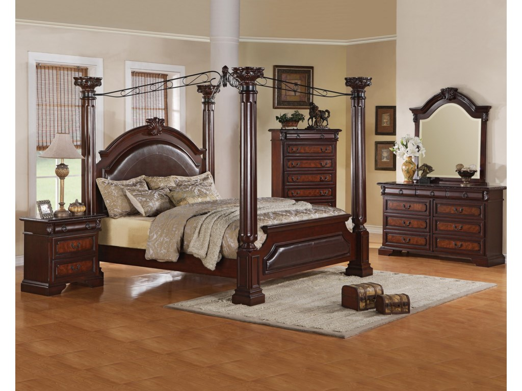 Shown with Nightstand, Bed, Chest & Mirror