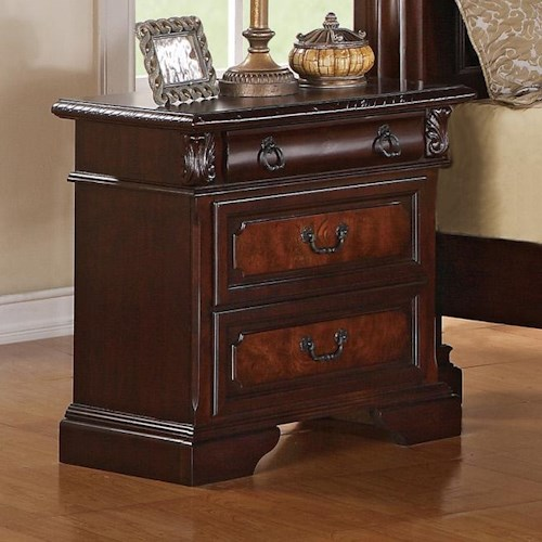 Crown Mark Neo Renaissance Nightstand