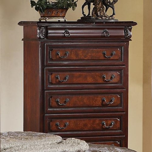 Crown Mark Neo Renaissance Tall Chest of Drawers