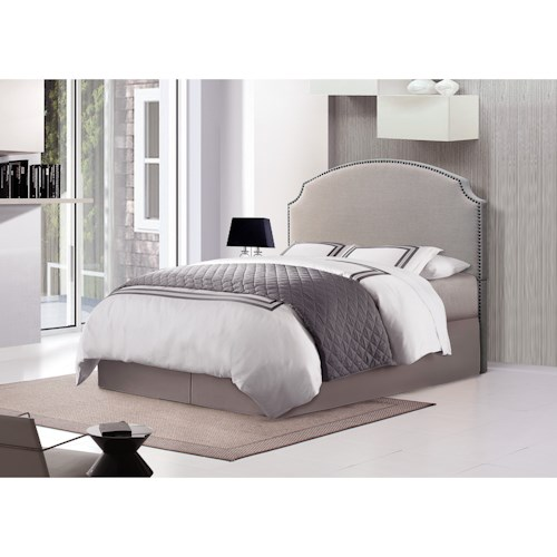 Crown Mark Odette King Upholstered Bed with Nailhead Trim