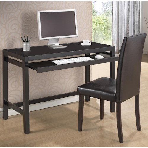 Crown Mark Pamela Pamela Home Office Desk with Upholstered Chair