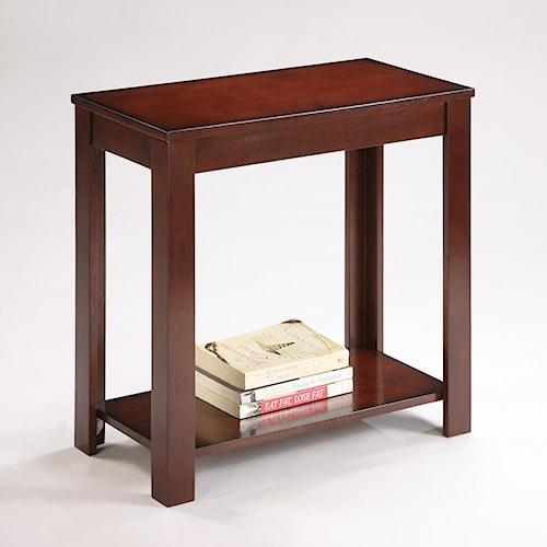 Crown Mark Pierce Pierce Chairside Table with Inlay Shelf