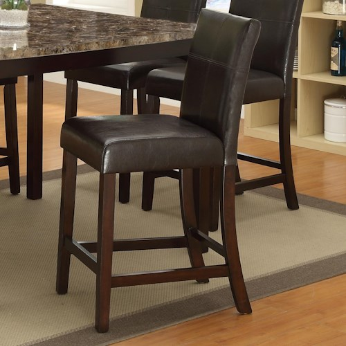 Crown Mark Pompei  Counter Height Chair with Accent Stitching