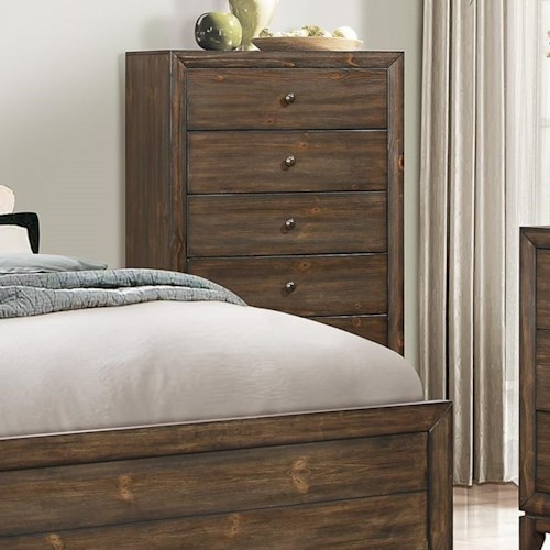 Crown Mark Rhone Chest of Drawers with Clean Lines