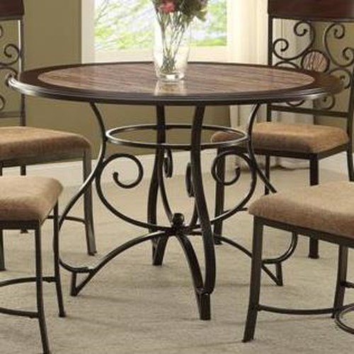 Crown Mark Sarah Casual Dining Table with Scoll Design