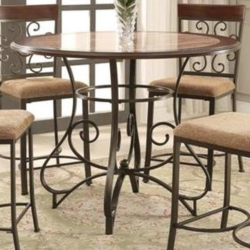 Crown Mark Sarah Counter Height Table with Scroll Design
