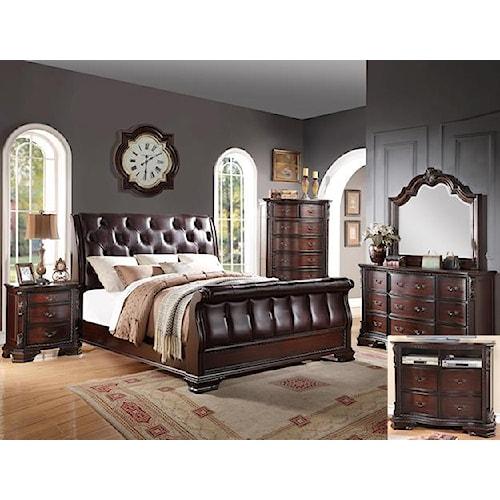 Crown Mark Sheffield Queen Bedroom Group