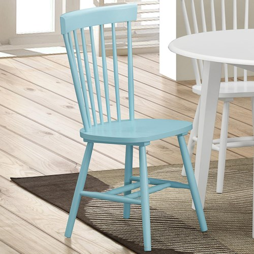 Crown Mark Shelli2 Side Chair with Spindle Back Design