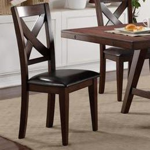 Crown Mark Sierra Transitional X-Back Side Chair