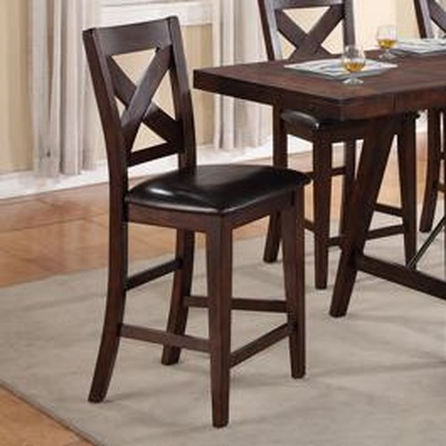 Crown Mark Sierra Transitional X-Back Counter Height Chair