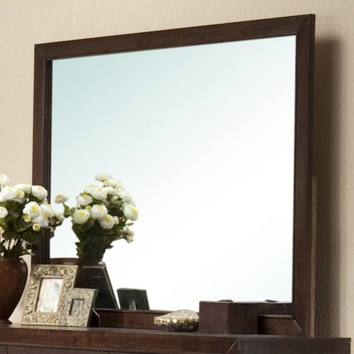 Crown Mark Silvia Simple Brown Framed Dresser Mirror