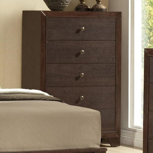 Crown Mark Silvia Tall 5 Drawer Chest