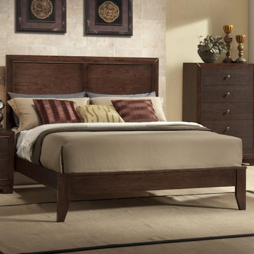 Crown Mark Silvia Queen Low Profile Bed