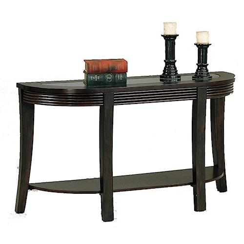 Crown Mark Simone Glass-Top Sofa Table