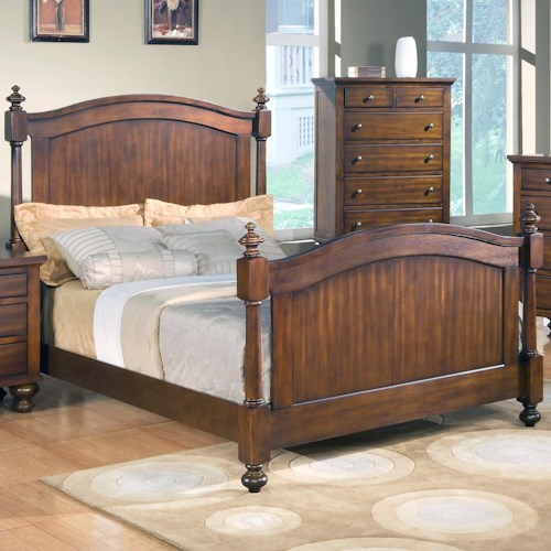 Crown Mark Sommer King Headboard and Footboard Bed