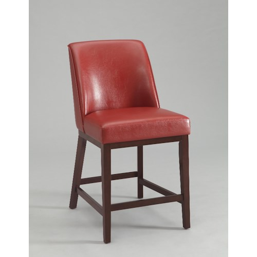 Crown Mark Sondra 40 Inch Red Vinyl Bar Stool