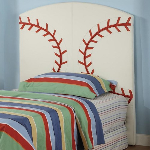 Crown Mark Sport Themed Twin Baseball Sports Headboard