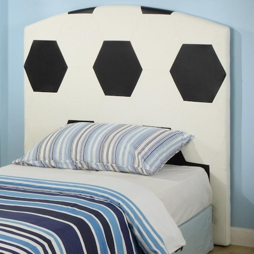 Crown Mark Sport Themed Twin Soccer Sports Headboard