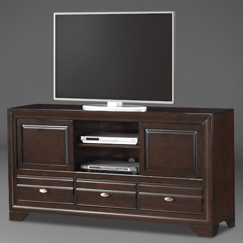 Crown Mark Stella Entertainment Console with 3 Drawers and 2 Doors