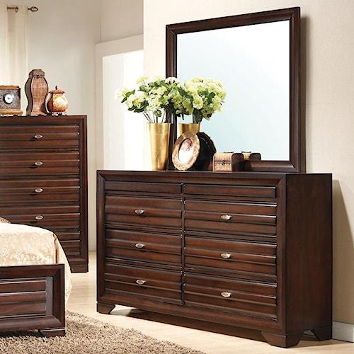 Crown Mark Stella Dresser & Mirror