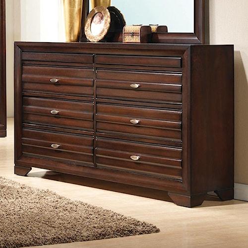 Crown Mark Stella Rectangular Dresser with 6 Drawers