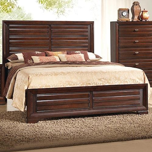 Crown Mark Stella Queen Panel Headboard & Footboard Bed