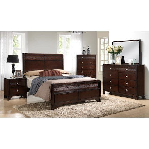 Crown Mark Tamblin King Bedroom Group