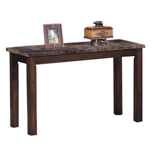 Crown Mark Thurner Sofa Table with Faux Marble Top