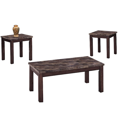 Crown Mark Thurner 3-Pack Cocktail Set with 2 End Tables