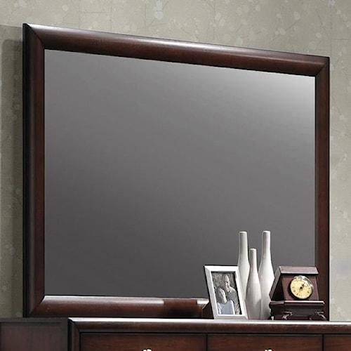 Crown Mark Essex Rectangular Dresser Mirror with Wood Frame