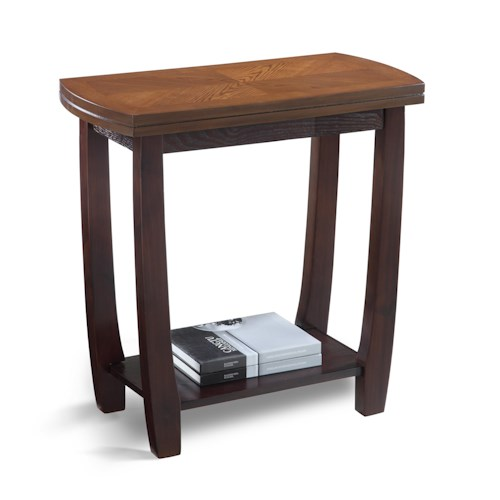 Crown Mark Wharton Chairside Table with Open Bottom Shelf