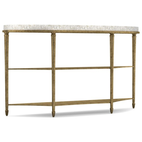 Cynthia Rowley for Hooker Furniture Cynthia Rowley - Pretty Aura Demilune Console Table with Shell Top