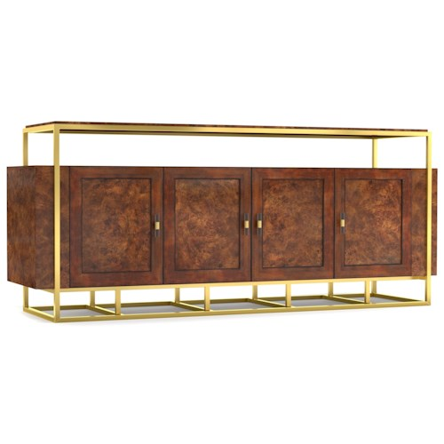 Cynthia Rowley for Hooker Furniture Cynthia Rowley - Sporty Woodstock Wood/Metal Entertainment Console
