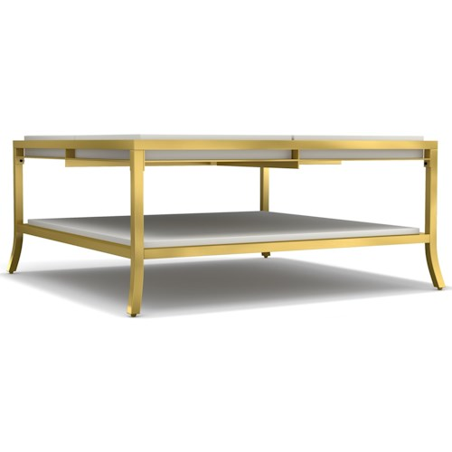Cynthia Rowley for Hooker Furniture Cynthia Rowley - Sporty Flip Square Cocktail Table w/ Reversible Top