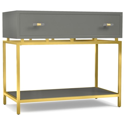 Cynthia Rowley for Hooker Furniture Cynthia Rowley - Sporty Happily Gray One-Drawer Leg Nightstand