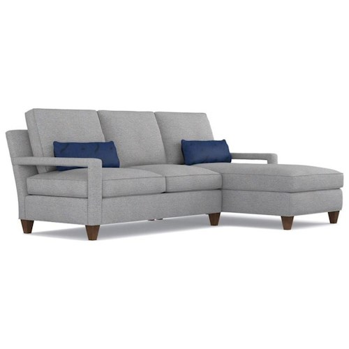 Cynthia Rowley for Hooker Furniture Cynthia Rowley - Sporty Upholstery Varick LAF Loveseat & RAF Chaise Sectional