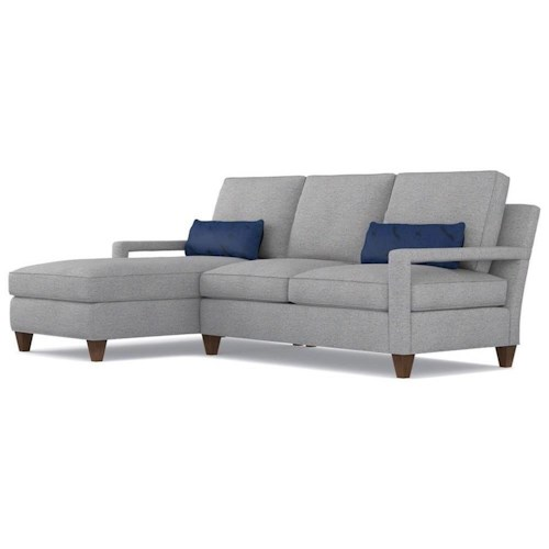 Cynthia Rowley for Hooker Furniture Cynthia Rowley - Sporty Upholstery Varick RAF Loveseat & LAF Chaise Sectional