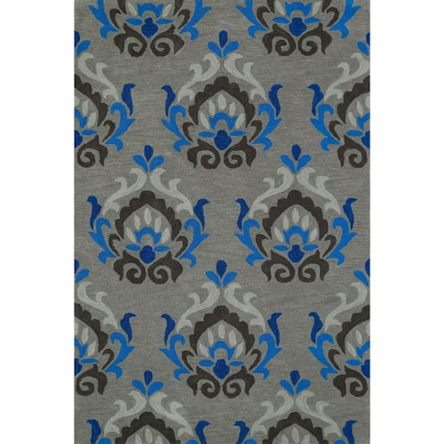 Dalyn Aloft Silver 9'X13' Rug