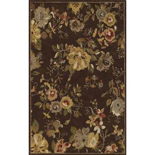 Dalyn Jewel Chocolate 5'X8' Rug