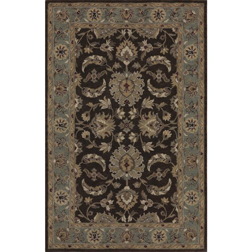 Dalyn Jewel Chocolate/Spa Blue 8'X10' Rug