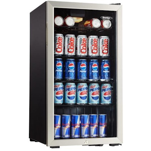 Danby Wine Coolers and Beverage Centers 3.3 Cu. Ft. Beverage Center with 120 Can Capacity