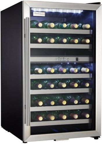 Fits 38 Bottles with Dual Temperature Storage