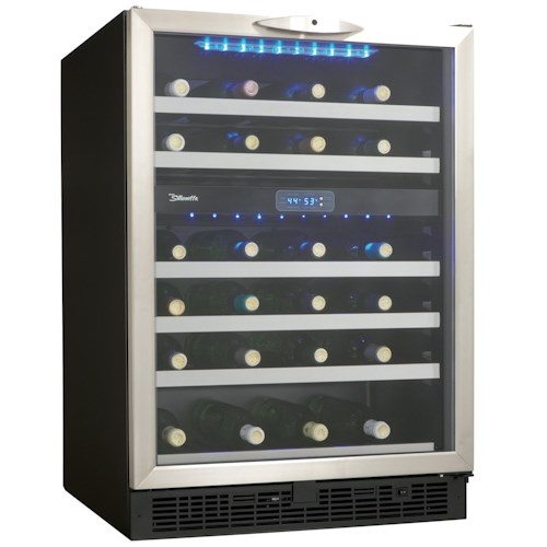 Danby Wine Coolers and Beverage Centers 5.1 Cu. Ft. Silhouette Series Wine Cooler with 51 Bottle Capacity